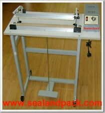 SEALANDPACK 400mm foot pedal impulse heat sealer with cutter --3mm sealing width