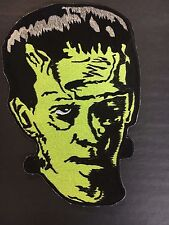 Frankenstein Face Embroidered Back Patch NEW Monster Horror Boris Karloff