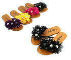 4 Color Cute Flower Kids/Youth Flip Flop Sandals Girls Flats Shoes Size 11 - 4