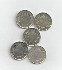 5 NICE 10 KURUS COINS from TURKEY (2009, 2010, 2011, 2012 & 2013)