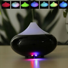 Black LED Color Ultrasonic Air Humidifier Oil Aroma Diffuser Purifier Steam Mist