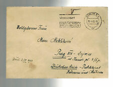 1940 Berlin Germany Cover Gestapo Prisoner Czech General Miroslav Miklik to wife
