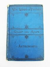 Astronomy Schools & Academies Gillet Rolfe Blue Hardcover 1882 Antique Science