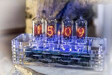 Z573M Z570M NIXIE CLOCK plexiglas housing || as Z568M IN-18 || Handmade & Unique