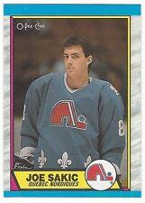 1989-90 OPC HOCKEY #113 JOE SAKIC ROOKIE - NEAR MINT-