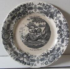 Piatto ceramica - porcellana Choisy le Roi -  plate - Frutti e Legumi