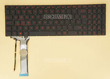 NEW for ASUS ZX50JX ZX50VW ZX50VX ZX70VW Keyboard RED Backlit UK