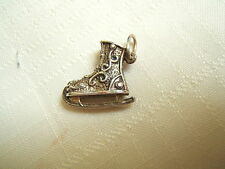 VINTAGE STERLING SILVER CHARM ICE SKATE VICTORIAN WINTER