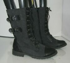 new Blacks  Lace Rugged  Combat  Riding Winter sexy ankle sexy boot Size  7  p