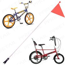 5ft HI VIZ BIKE CYCLE ORANGE SAFETY FLAG Bicycle/Trailer/Scooter/Pram/Tag Along