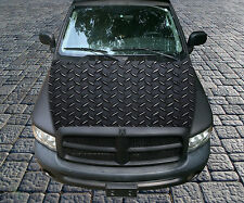 H112 DIAMOND PLATE LARGE Hood Wrap Wraps Decal Sticker Tint Vinyl Image Graphic