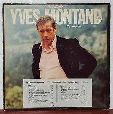 """The Best of Yves Montand By Request 1977 Columbia 12"""" 33 RPM LP Promo (VG+)"""