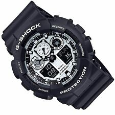 Casio G-Shock Mens Digital Wrist Watch GA100BW-1A GA-100BW-1ACR Black/White New
