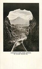 c1905 Cameron's Cone From Tunnel, Colorado Midland Railway/Railroad Postcard