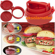 Stuffed Burger Press Hamburger Grill BBQ Patty Maker Juicy As On TV UR