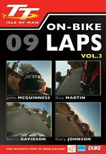 Isle of Man TT 2009 - On Bike Laps Volume 3 (New DVD) Guy Martin John McGuinness