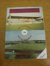 1996/1997 Mangotsfield United v Old Georgians [Friendly] (Match Report Inside).