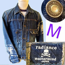 MASTERMIND JAPAN denim jacket blue Jean Homme NY fashion week medium coat