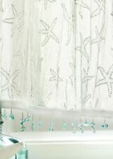 Heritage Lace Starfish Valance with Trim 45x15 White Made in USA