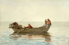 Oil painting winslow homer - Three Boys in a Dory with Lobster Pots landscape