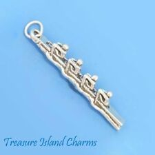 ROWERS ROWING TEAM SCULL BOAT Olympics 3D .925 Solid Sterling Silver Charm