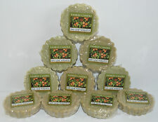 LOT OF 10 YANKEE CANDLE BAY LEAF WREATH TARTS WAX MELTS CANDLE WARMER TART GREEN
