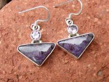 CHAORITE & AMETHYST 925 SILVER EARRINGS SILVERANDSOUL HANDCRAFTED JEWELLERY