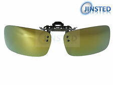 High Quality Revo Green Clip On Mirrored Polarised Sunglasses Clip-On ACP023