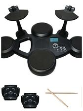 CLIFTON E-Drum Set - 6 TOUCH SENSITIVE PADS FOOT PEDALS + DRUMSTICKS