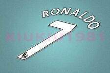 Manchester United Ronaldo #7 PREMIER LEAGUE 07-13 White Name/Number Set