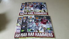 8 West Ham home programmes from 2004-05 season