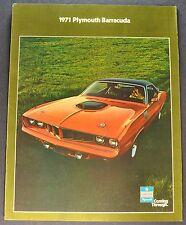 1971 Plymouth Barracuda Brochure Hemi Cuda Gran Coupe Excellent Original 71