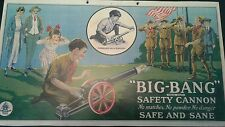 "Vintage Style BIG BANG CANNON Cast Iron Toy Paper Sign 15 1/2"" X 8 3/4"""