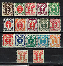 Germany Danzig Coat of Arms stamps long set 17 stamps 1921 MLH/U