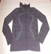 LULULEMON IN STRIDE JACKET WREN WE ARE FROM SPACE STRIPE YOGA WORKOUT EUC sz 2
