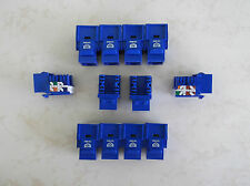 100 Pack Cat-6 Keystone Jacks in Blue **TUFF JACKS QUALITY** Lifetime Warranty