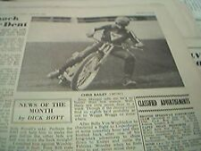 book picture 1969 - speedway -  chris bailey
