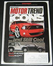 Motor Trend October 2011-2012Jeep Wrangler,2012 VW Beetle,2015 Mustang