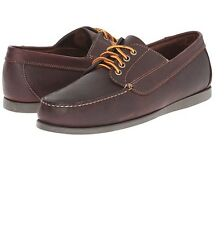 Bass Mens Carlisle Leather Casual Slip On Loafer Boat Shoes Brown Size 9 D
