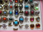 Wholesale & Job Lots 30 Rings Assorted Style & Colours Silver & Gold Plated