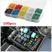 100Pcs Assorted Car Truck Mini Low Profile Fuse Box 5 7.5 10 15 20 25 30 A AMP