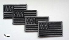 US USA American Flag patch SUBDUED BLACK and GRAY GREY **LOT of 4**