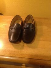 TOD'S Soft Black Leather Driving Shoes SZ 8.5 UK.5.5