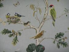 "SANDERSON CURTAIN FABRIC DESIGN ""Woodland Chorus"" 3.2 METRES SKY BLUE/MULTI"