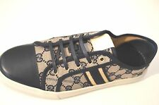 Gucci Women's Shoes Namoo Lace Up Sneakers GG Logo Blue Size G 41.5  11.5
