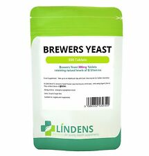 Brewer's Yeast 300mg 500 Tablets Vitamin B B1 B2 B5 B6 Biotin Probiotic Brewers