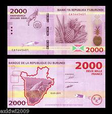 Burundi 2000 Francs 2015 P-52 Mint UNC Uncirculated Banknotes New Design
