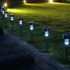 luce solare LED Lampada Da Giardino Illuminazione sentiero per esterni Nuovo