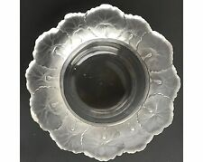 Unsigned Vintage Czech Bohemian Honfleur Crystal Bowl in the Manner of Lalique