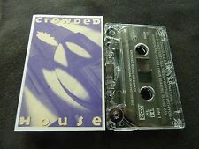 CROWDED HOUSE WOODFACE ULTRA RARE ADVANCE CASSETTE TAPE!